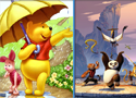 Similarities Winnie and Panda Games